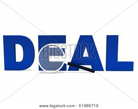 Deal Word Shows Deals Dealing Bargain Or Bargains