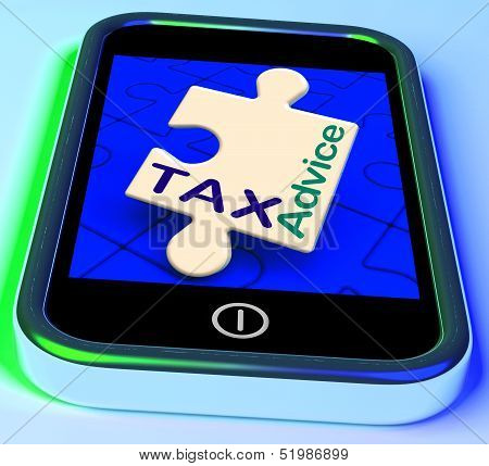 Tax Advice Phone Message Shows Taxation Help Online