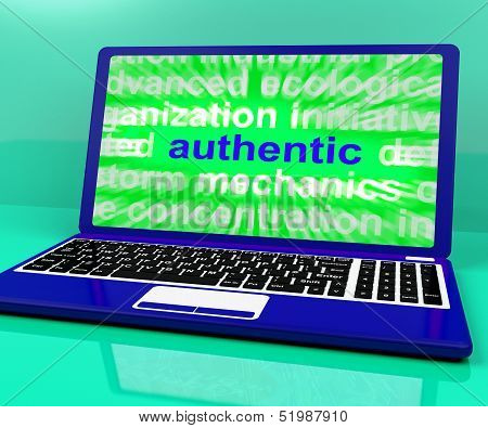 Authentic Laptop Shows Real Genuine Guaranteed Product