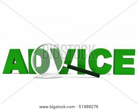 Advice Word Means Recommend Or Advise