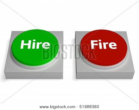 Hire Fire Buttons Show Hiring Or Firing