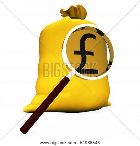 Pound Sack Shows British Money Gbp Or Cash