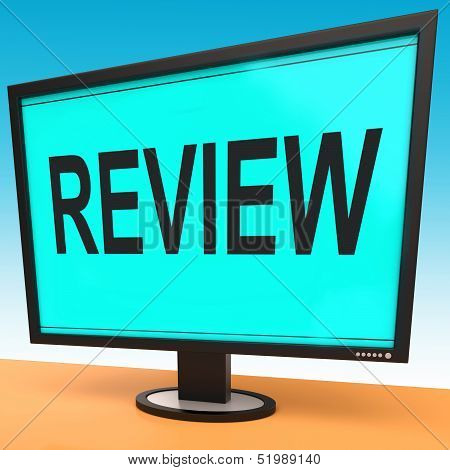 Review Screen Means Check Reviewing Or Reassess