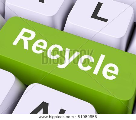 Recycle Key Means Reuse Or Salvage.