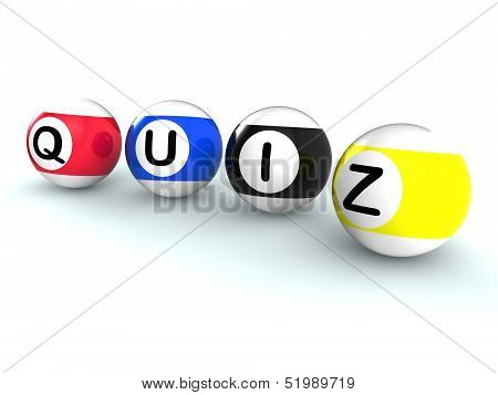 Quiz Word Shows Test Or Quizzing