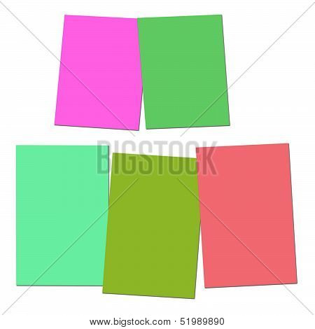 Two And Three Blank Paper Slips Show Copyspace For 2 Or 3 Letter Words