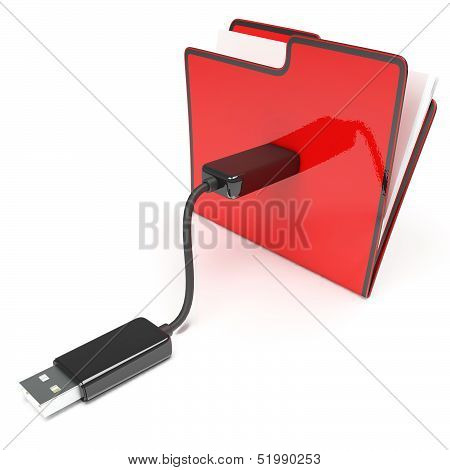 Usb Folder Or File Shows Data Storage And Memory
