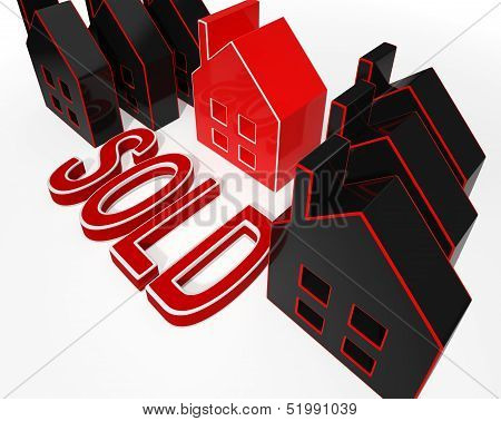 Sold House Displaying Sale Of Real Estate
