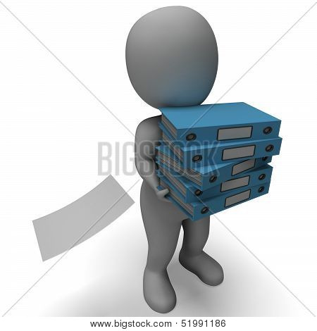 Organizing Clerk Carries Organized Files