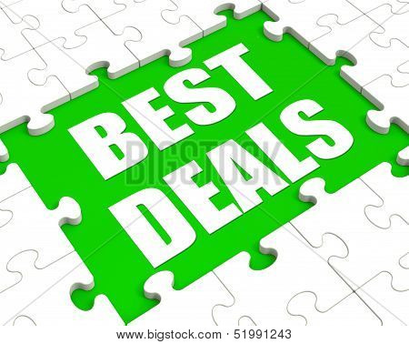 Best Deals Puzzle Shows Great Deal Promotion Or Bargain