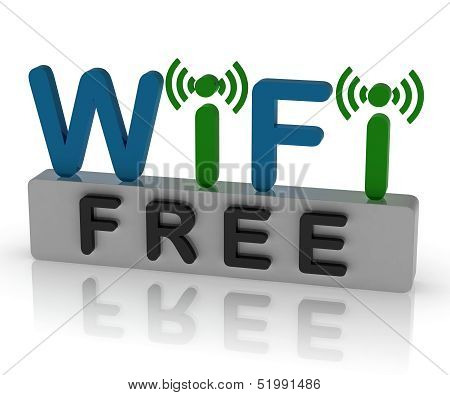 Free Wifi Shows Internet Connection And Mobile Hotspot