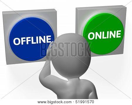 Offline Online Buttons Show Internet Support Status