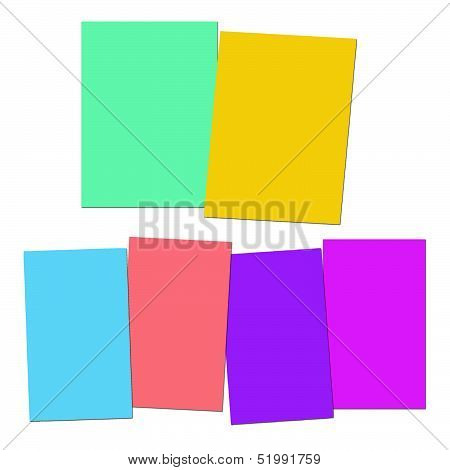 Two And Four Blank Paper Slips Show Copyspace For 2 Or 4 Letter Words