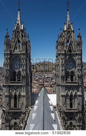 Basilica Of The National Vow In Quito, Ecuador