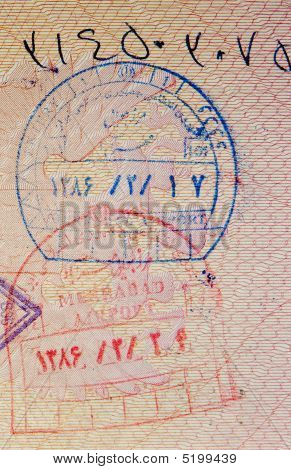 Passport With Iranian Stamps