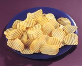 picture of bangla  - Fresh and salty crinkle chips in plate - JPG
