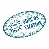 Gone on vacation stamp