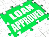 Loan Approved Puzzle Shows Credit Lending Agreement Approval