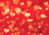 pic of ethereal  - Decorative grunge valentine background with hearts - JPG