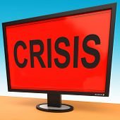 Crisis Monitor Means Calamity Trouble Or Critical Situation