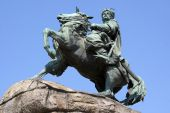 picture of bohdan  - Monument Boghdan Hmelnitsky on the horse in Kiev - JPG