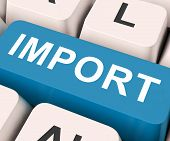 Import Key Means Importing Or Imports.