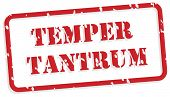 picture of temperance  - Temper tantrum red rubber stamp vector for mental health concept - JPG