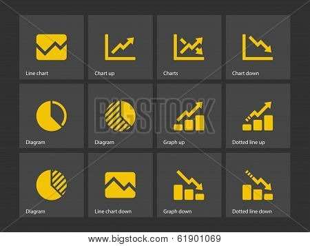 Line chart and Diagram icons.