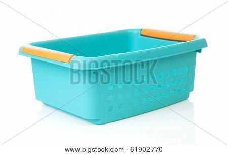 Empty Blue Basket Made Of Plastic