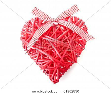 Red Heart Made Of Reed