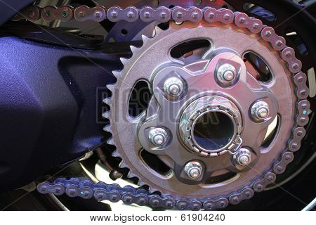 Sprocket and chain drive