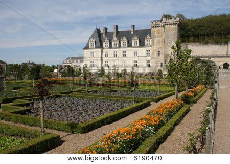 Loire Valley, Villandry Castle And Gardens