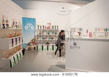 Perfumer's Stand At Esxence 2014 In Milan, Italy