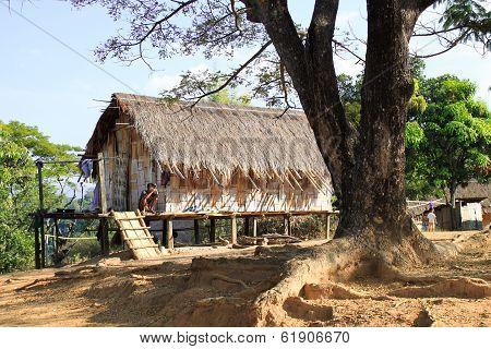 Local village in northern path Thailand