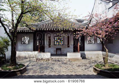 Entrance Courtyard At The Lion's Grove Garden, Suzhou, China