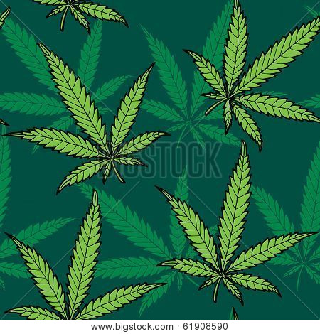 Hemp Seamless Pattern