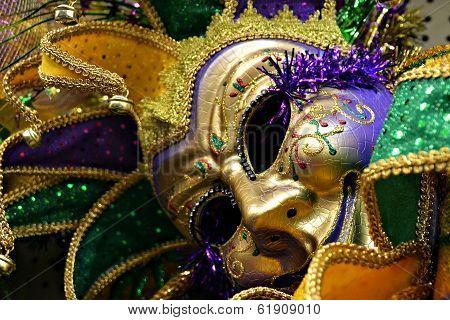 Mardi Gras jester's mask
