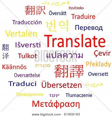Tag cloud or speech bubble: Translate.