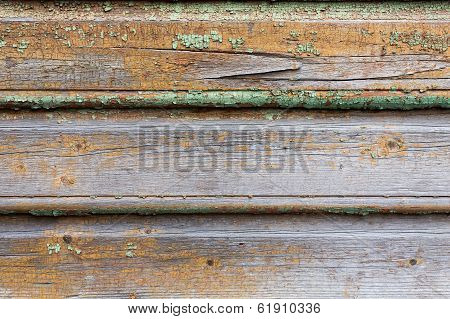 Old Wooden Painted And Chipping Paint.