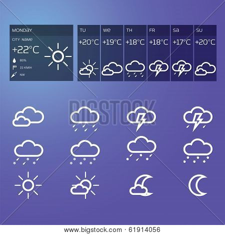 Blue weather widget