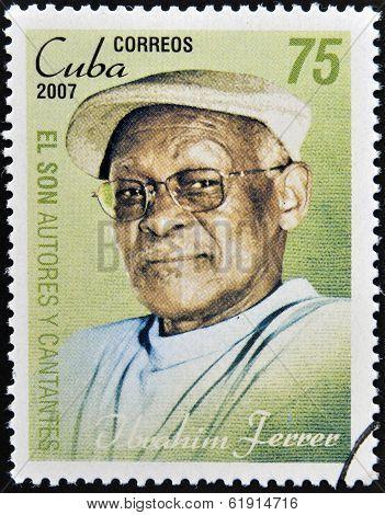 CUBA - CIRCA 2007: A stamp printed in cuba shows Ibrahim Ferrer