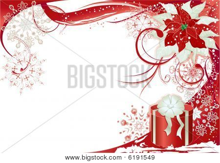 Red Background With Gift