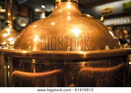 Copper container for brewing.
