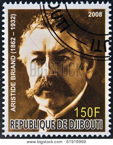 DJIBOUTI - CIRCA 2008: stamp printed in Djibouti shows Aristide Briand