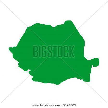 Romania Outline Map