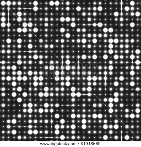 Black and white seamless shimmer background with shiny silver and black paillettes. Sparkle glitter techno background. Glittering sequins club screen. Abstract technology background,