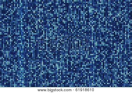 Blue seamless shimmer background with shiny silver and black paillettes. Sparkle glitter techno background. Glittering sequins club screen. Abstract technology background,