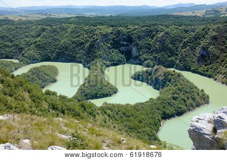 Canyon Uvac River Special Nature Reserve, Serbia