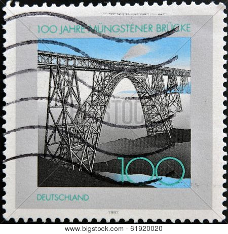 GERMANY - CIRCA 1997: A stamp printed in Germany shows Munster bridge circa 1997