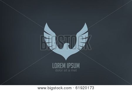 Bird wings abstract vector logo design template. Luxury emblem concept icon.